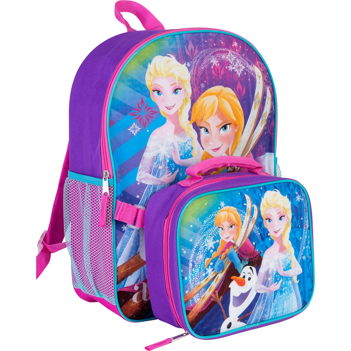 Pack Mochila + Lonchera Escolar Frozen