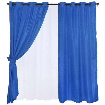 Set Cortinas 8 Piezas Argolla Kate Denim