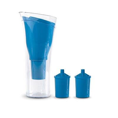 Jarro Purificador de Agua + 2 Repuestos de Filtro Dvigi Azul