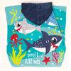 Toalla de Playa con Capucha Velour Shark 60 x 120 cm