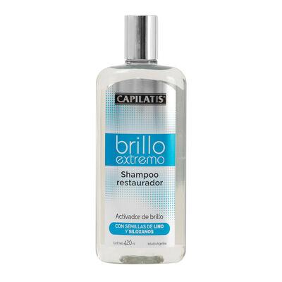 Shampoo Capilatis Restaurador Brillo Extremo 420 ml