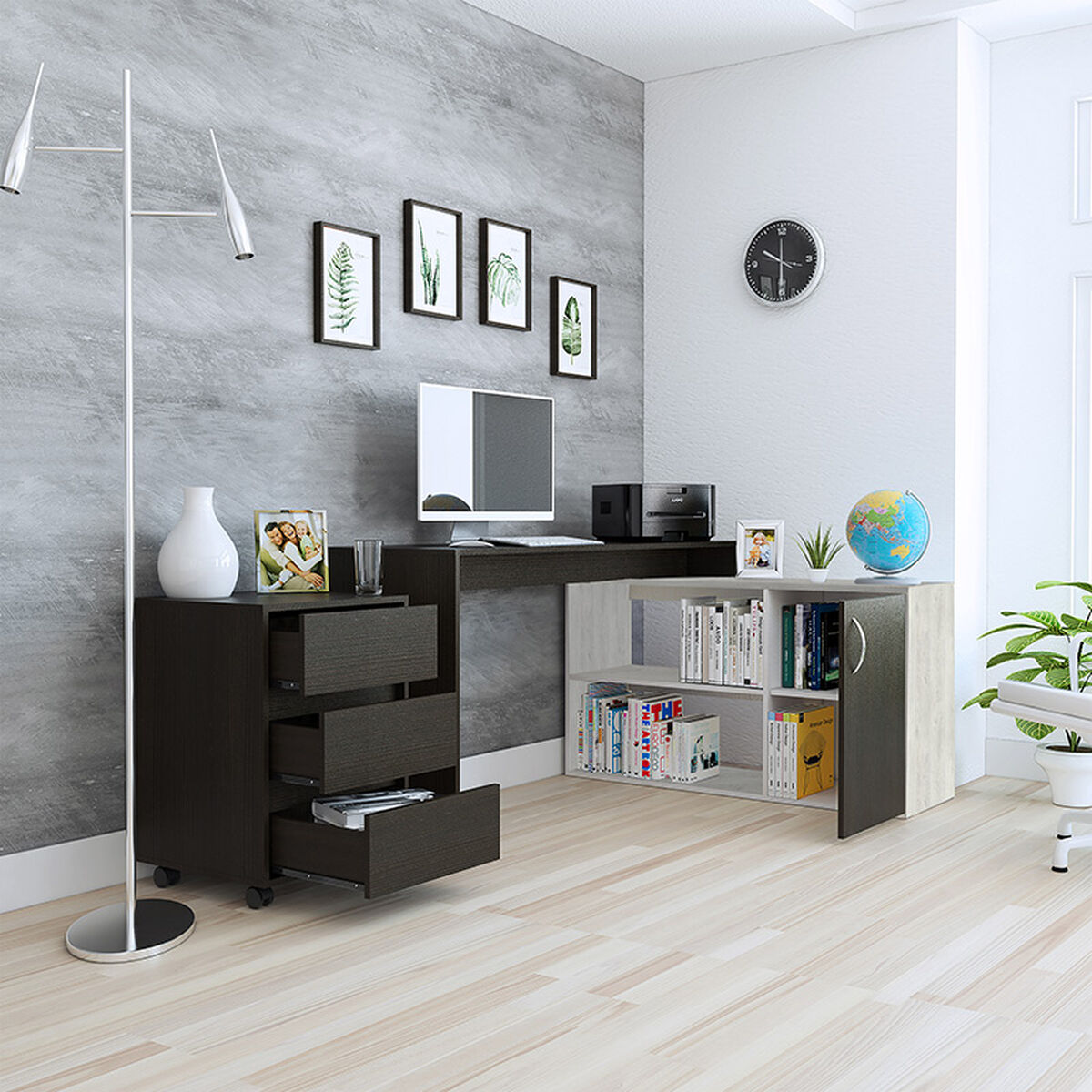 Set Escritorio Axis + Cajonera Office