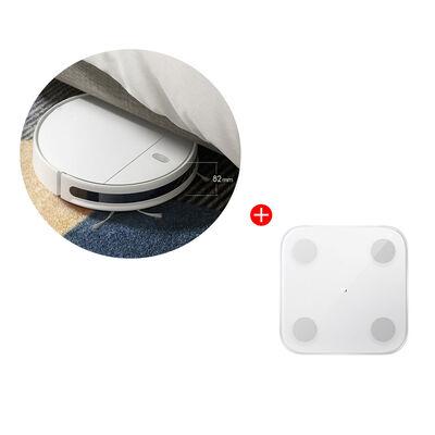 Combo Aspiradora Robot Xiaomi Mi Robot Vacuum-Mop Essential + Pesa Mi Body Composition Scale 2