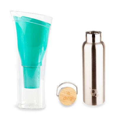 Jarro Purificador de Agua + Botella Benjamina Dvigi Verde