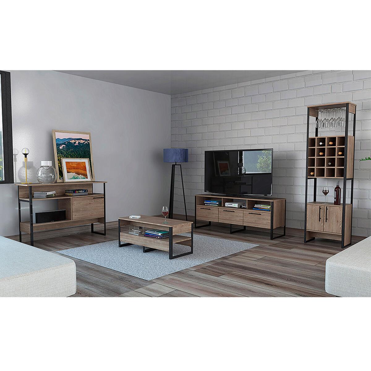 "Rack Tv 60"" + Bar + Arrimo + Mesa Centro Magnum"