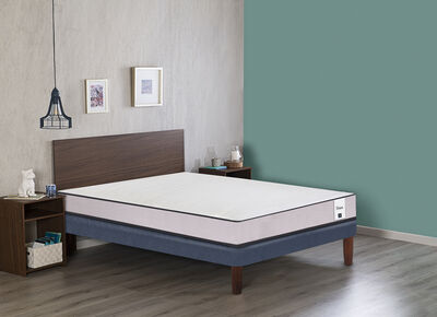 Cama Europea Cic New Titan 2 Plazas + Set Maderas Nogal