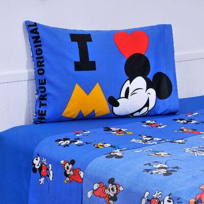 Sábana Mickey 90 años 1,5 Plazas