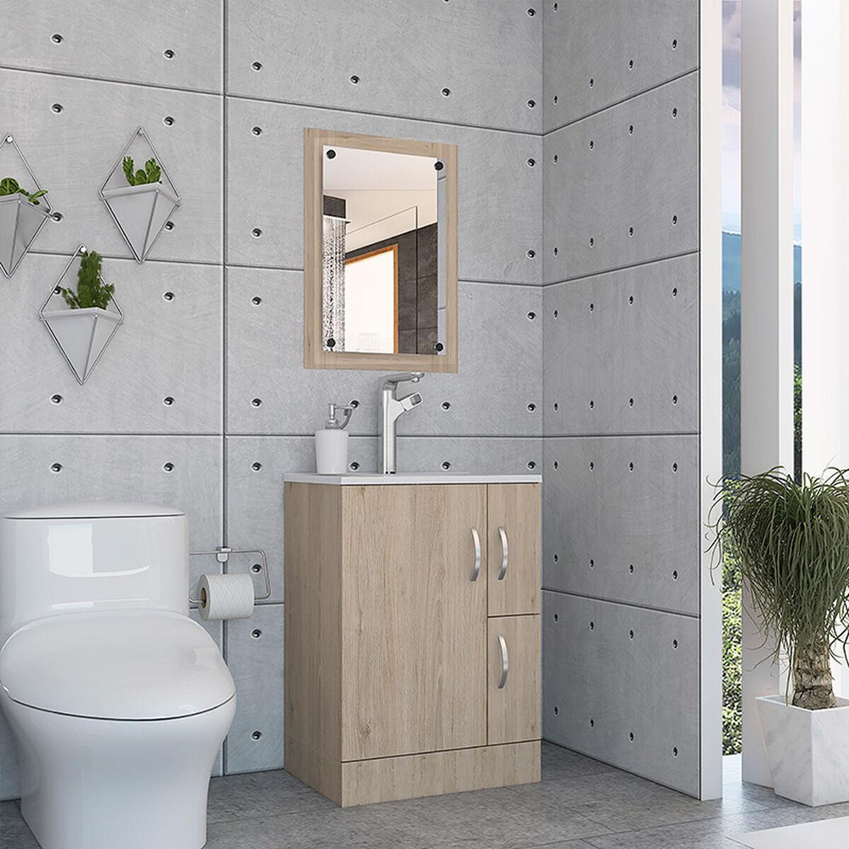 Set Mueble de Baño + Espejo de Baño + Lavamanos
