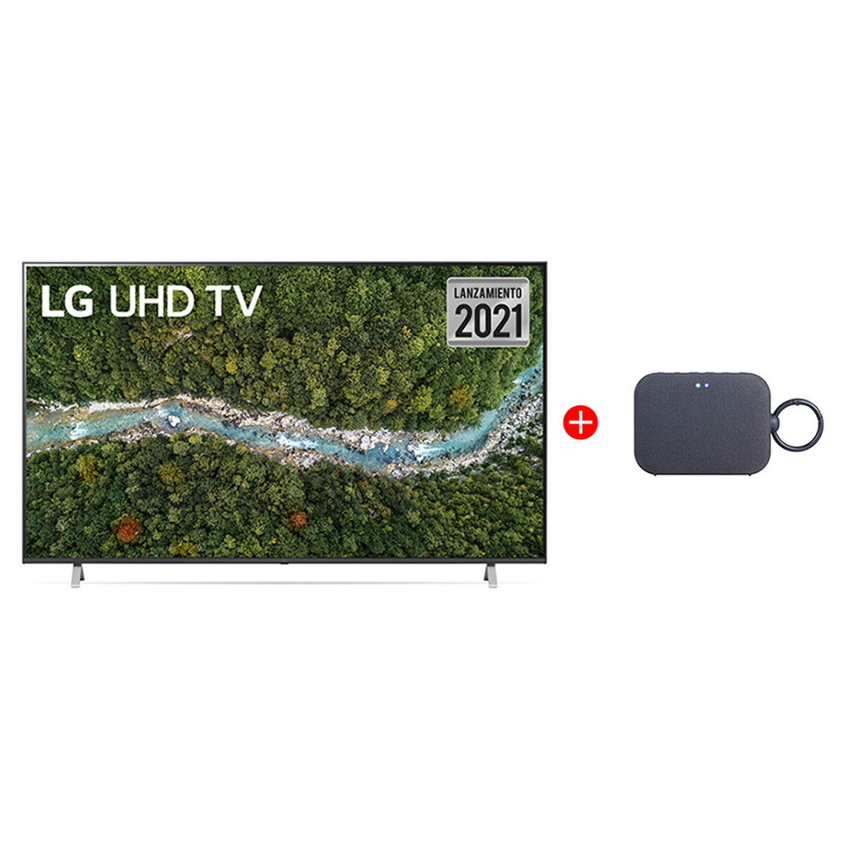 "Combo LED 70"" LG 70UP7750PSB Smart TV 4K UHD +  Parlante Bluetooth PM1 Azul"