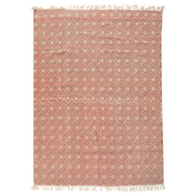 Alfombra Valencia kelim cotton printed 133 x 180 cm