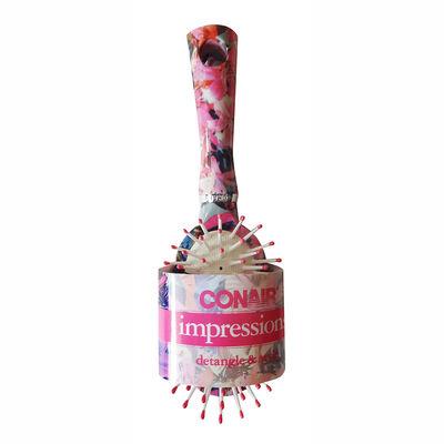 Cepillo Pequeño Ovalado Impressions Floreado Rosado