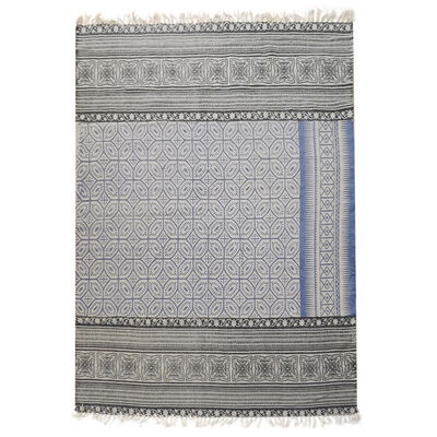 Alfombra Valencia kelim cotton printed 150 x 200 cm