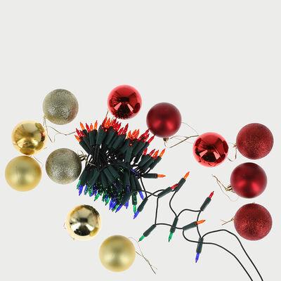 Set 24 Luces Esferas Colores