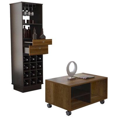 Mueble Bar + Mesa de Centro TuHome Classic