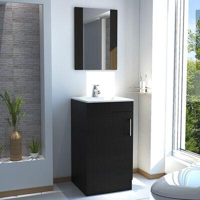 Mueble para Lavamanos +  Gabinete Espejo TuHome Madrid + Lavamanos