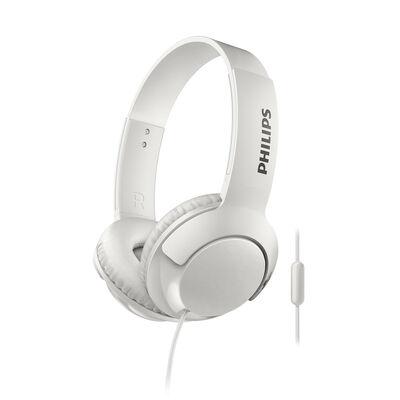 Audífonos Over Ear Philips SHL3075WT BASS+ Blancos