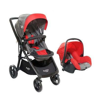 Coche Travel System Baby Way Rojo