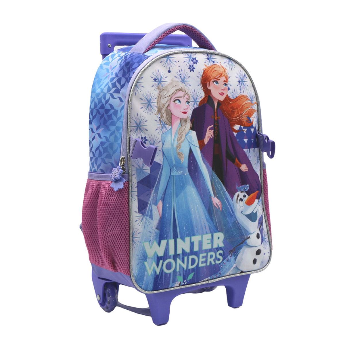 Pack Mochila con Ruedas + Lonchera Escolar Frozen