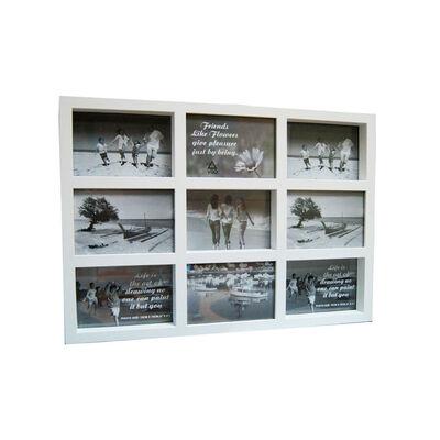 Portaretrato VGO Collage Box 10x15 cm x9 F Blanco