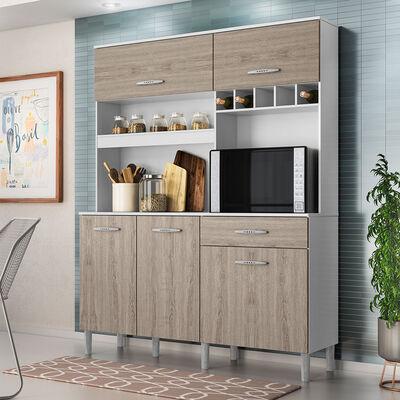 Mueble de Cocina Cristo Blanco-Café 1 Puerta 1 Cajón