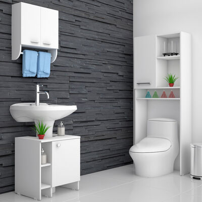 Mueble Lavamanos + Mueble Optimizador + Gabinete Tu Home