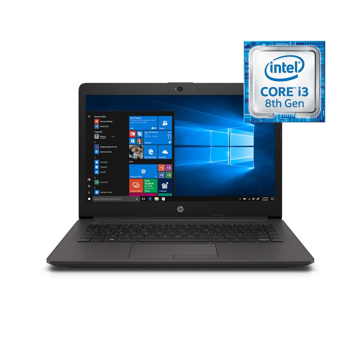 "Notebook HP 240 G7 Core i3 4GB 1TB 14"" Plateado Ceniza Oscuro"