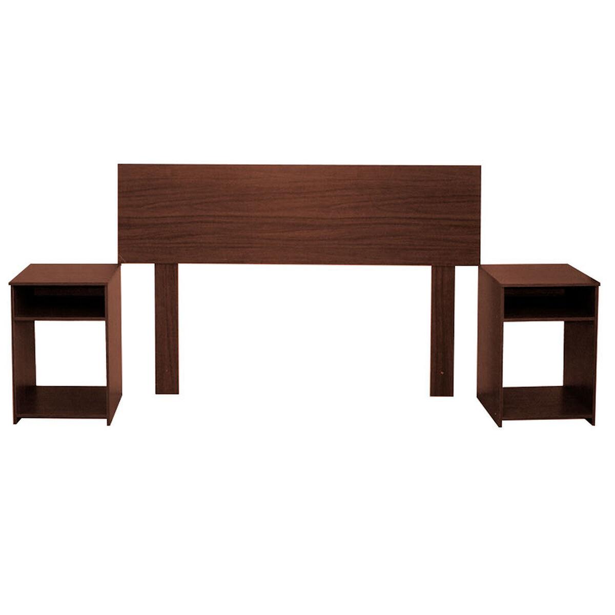 Combo Box Americano CIC 2 Plazas Excellence + Set Maderas Casanova Nogal + Pack Almohadas Celta Imperial Soft