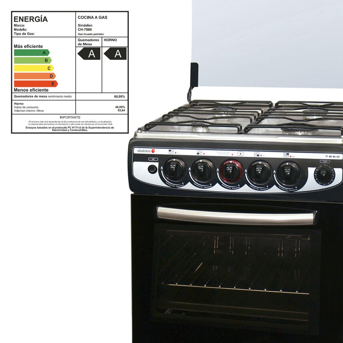 Cocina a Gas Sindelen CH-7860NG 4 Quemadores