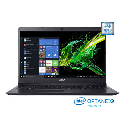 "Notebook ACER A315-53-386P Core i3 4GB 1TB 15.6"" 16GB Optane"