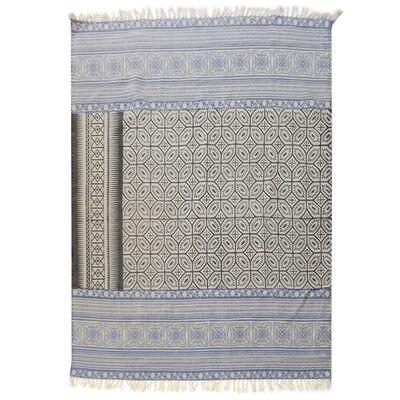 Alfombra Valencia kelim cotton printed 160 x 230 cm