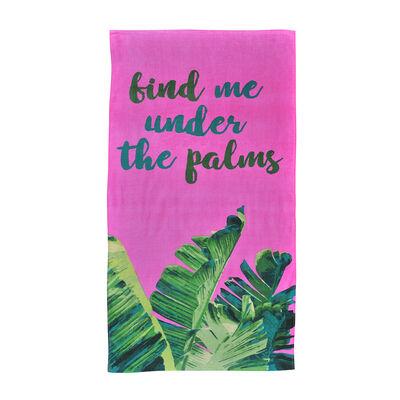 Toalla Algodón Velvet Palms 70X150 Cm