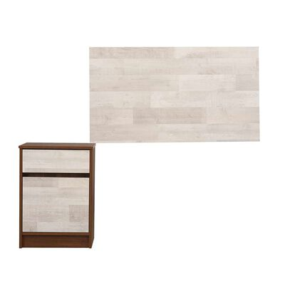 Set Velador + Respaldo Single  Legno