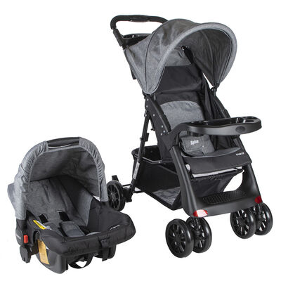 Coche Travel System Spine Gris