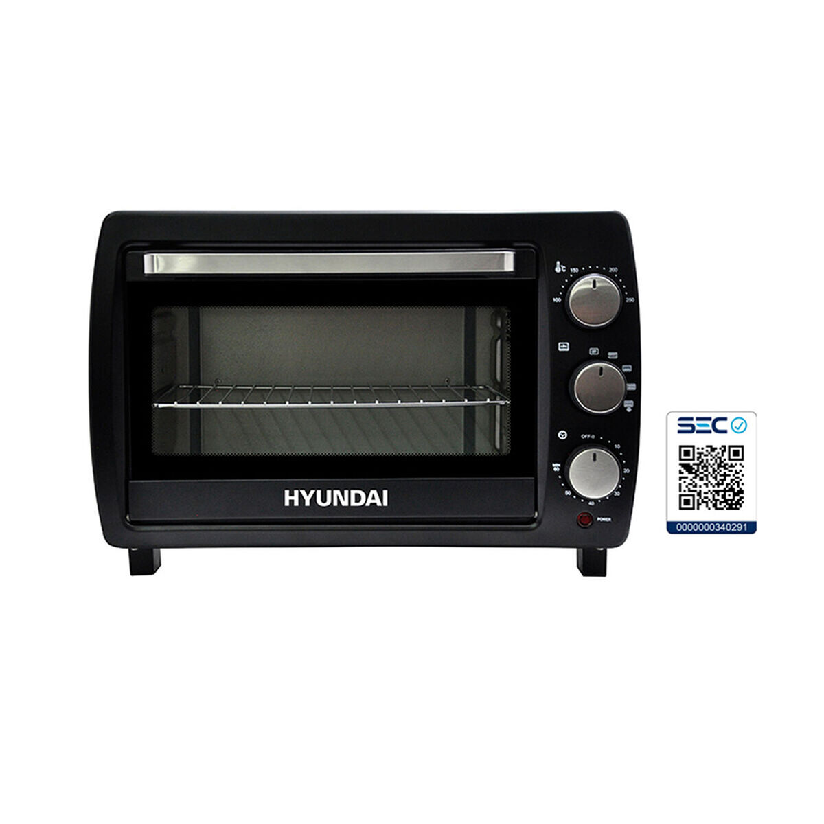 Combo Horno Eléctrico Hyundai HY28N 28 lt. + Mueble de Cocina Casanova 1 Puerta Nature / Blanco