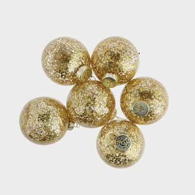 Esferas Decorativas 6 Piezas Dorado
