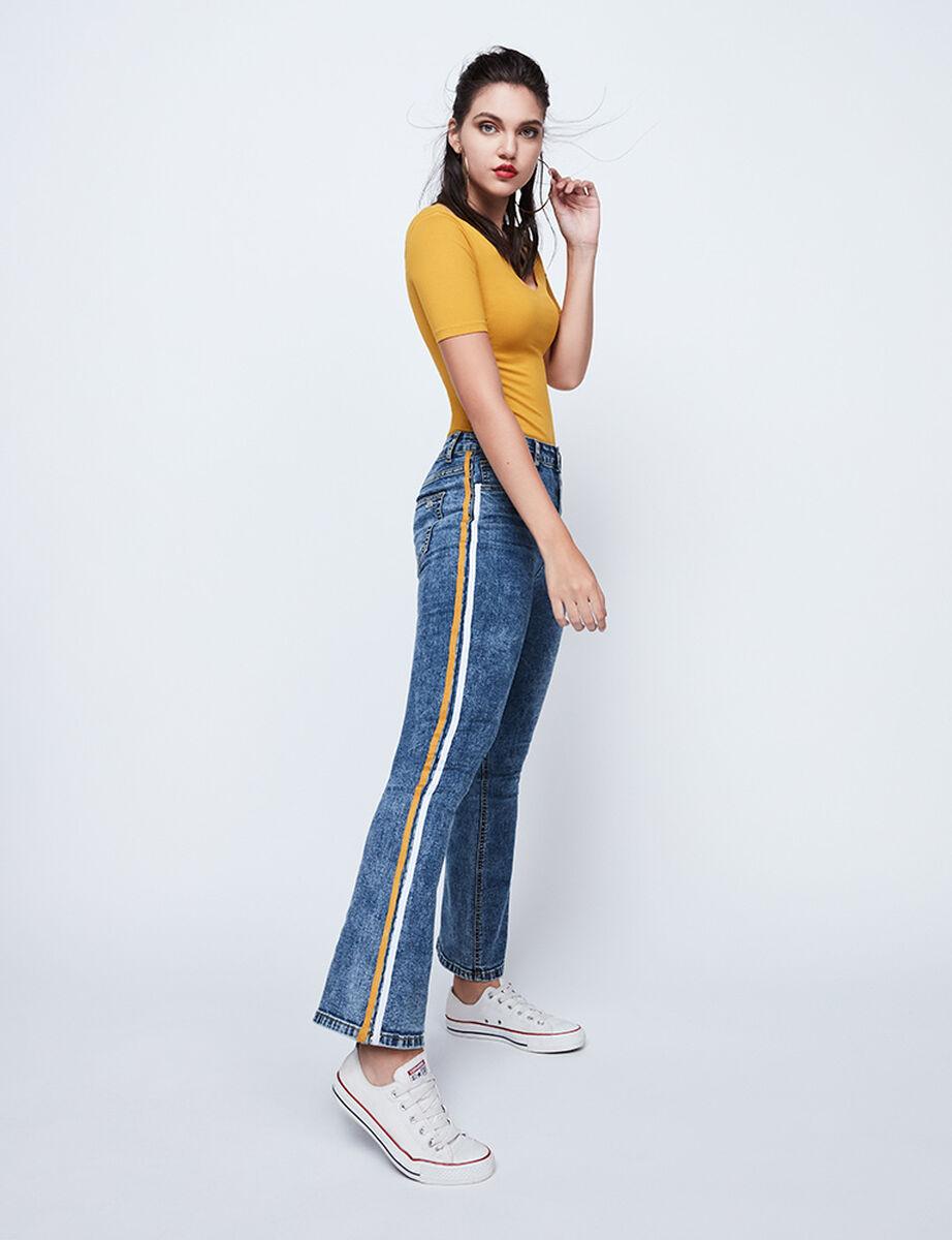 Jeans Mujer Flare Tape Fiorucci