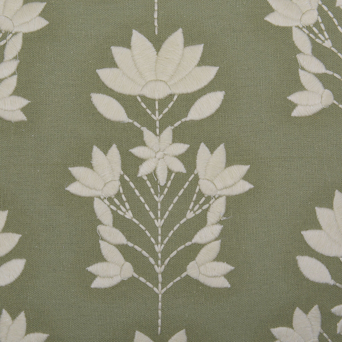 Cojín Bordado Sohome by Fabrics Botanica Verde 45 x 45 cm