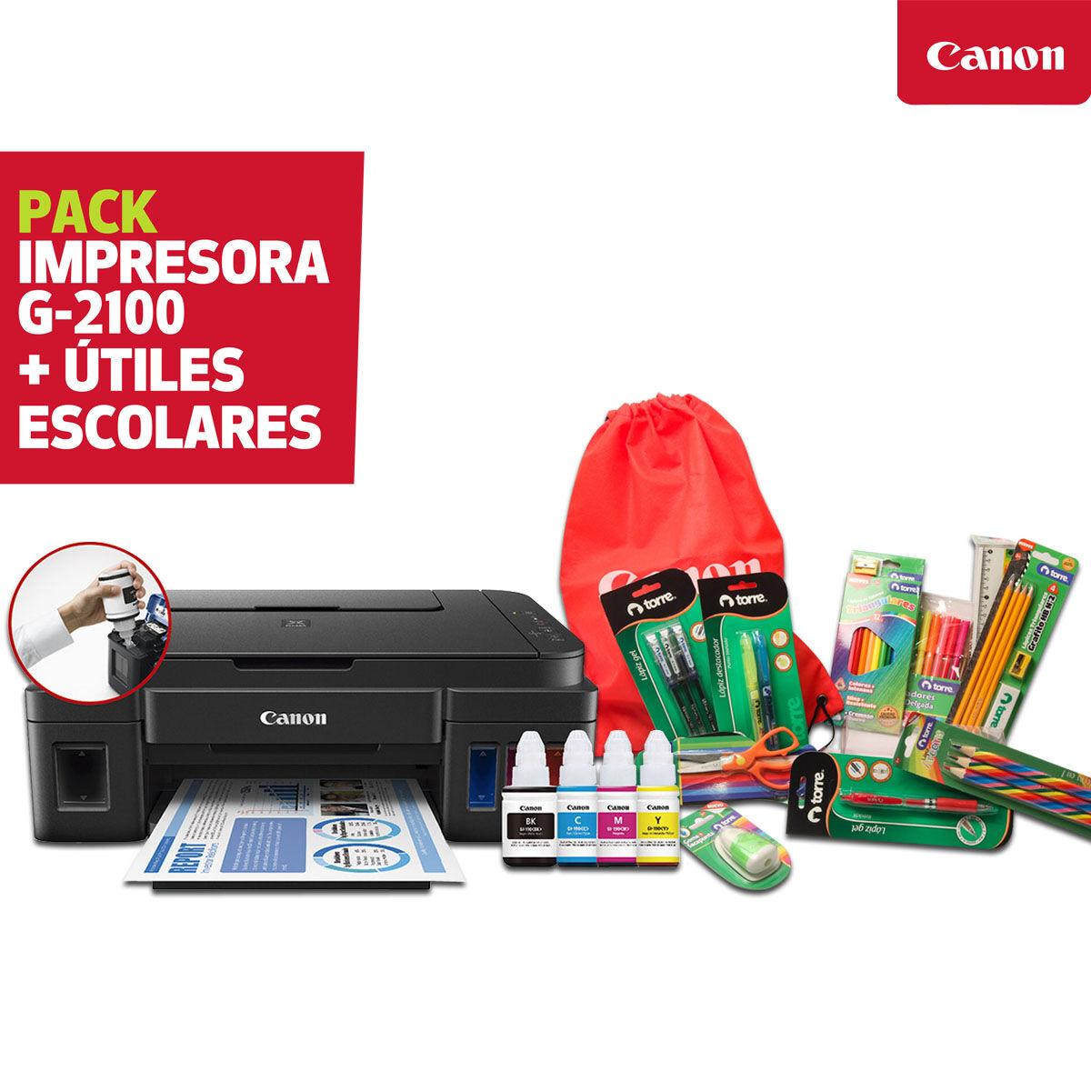 Multifuncional Canon Tinta Continua G-2100 + Kit Escolar Torre