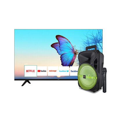 "LED 55"" Hyundai UDL55MP669LN Smart TV UHD + Minicomponente Microlab CitySong 8"" Verde"