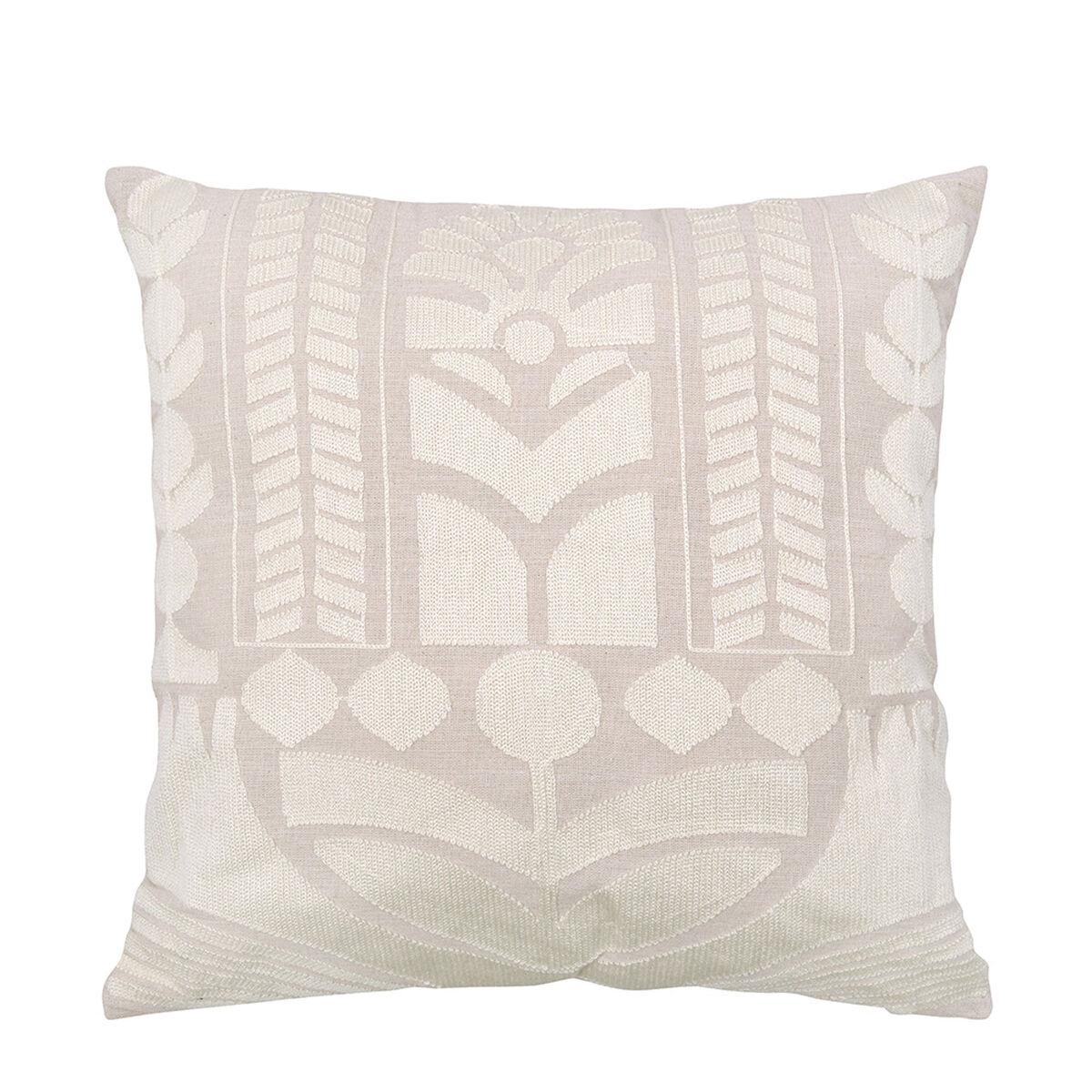 Cojín Bordado Sohome by Fabrics Boho Crudo 45 x 45 cm
