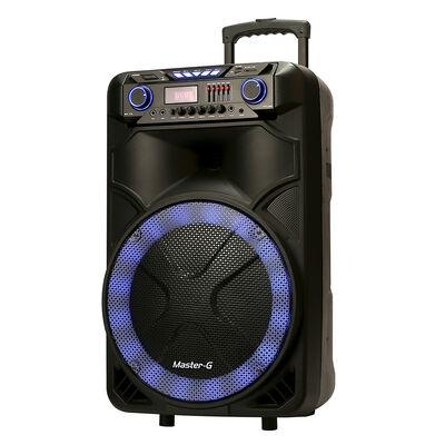 "Parlante Karaoke Portátil Master-G MG Ultra Mega 15"" con Atril"