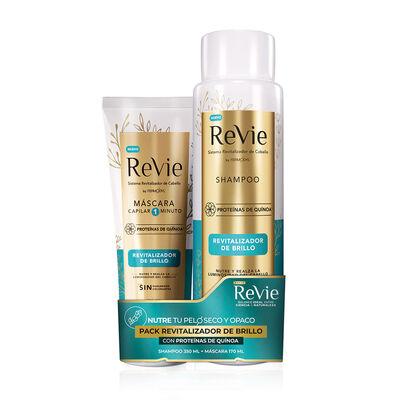 Pack Revie Shampoo + Máscara Revitalizador Brillo