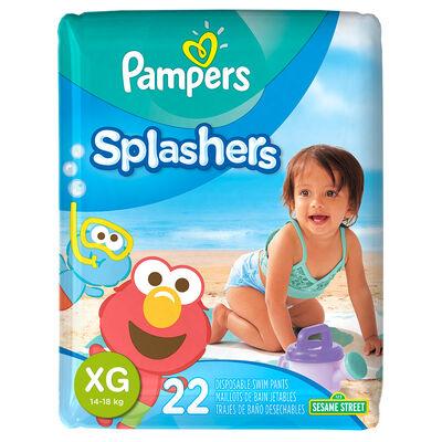 Pañales para Piscina Pampers Splashers Talla XG. 22 Unidades