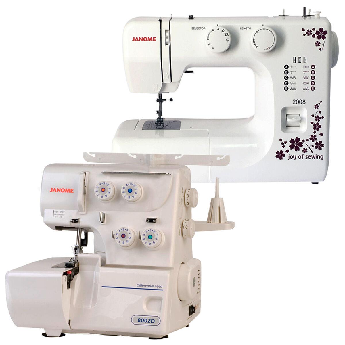 Máquina de Coser Janome 2008 + Janome 8002D
