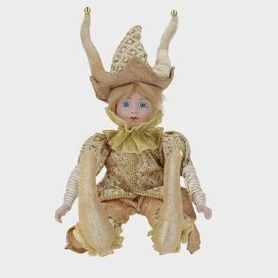 Figura Arlequin H Dorado 43 Cm