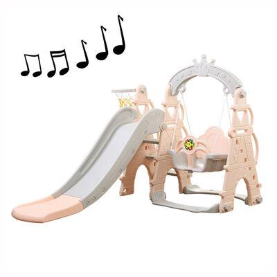 Resbalín Columpio Musical Rosa