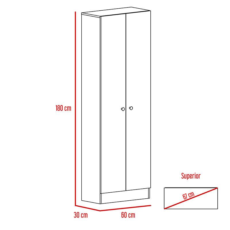Set Clóset 2 Puertas + Cómoda 4 Cajones