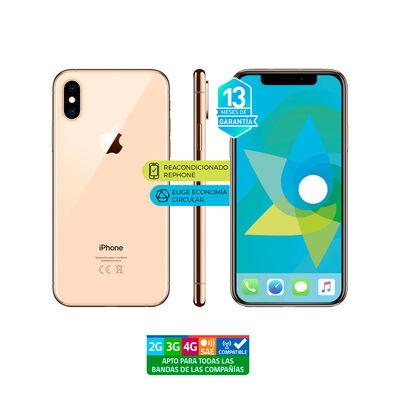 "Celular Apple Iphone XS 64GB 5.8"" Reacondicionado Dorado Liberado"