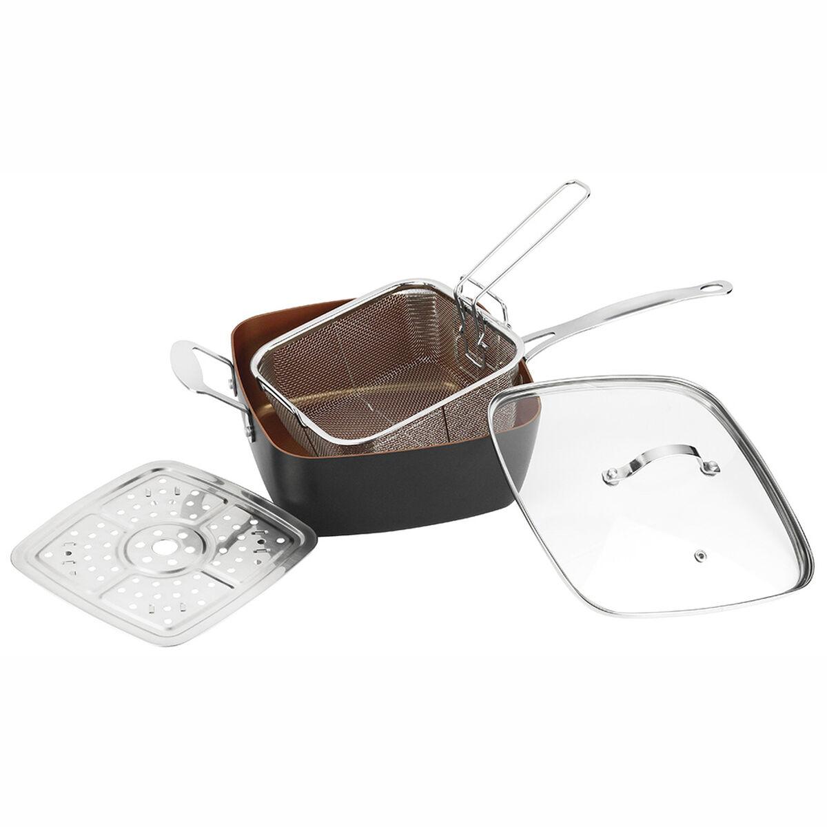 Sartén Olla Aluminio Multiuso Marmicoc Spring Negro 24 Cm