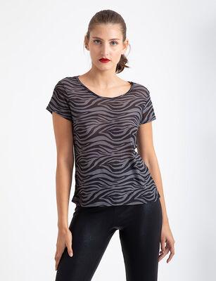 Polera Básica Fiorucci Mesh Zebra